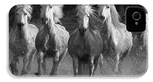 Camargue Horses Running IPhone 4 / 4s Case by Carol Walker