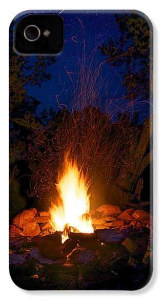 Campfire Under The Stars IPhone 4 Case