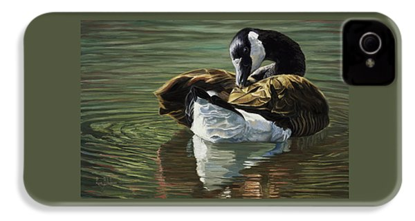 Canadian Goose IPhone 4 Case by Lucie Bilodeau