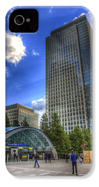 Canary Wharf Station London IPhone 4 Case by David Pyatt