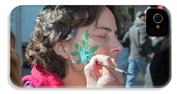 Cannabis Face Painting IPhone 4 Case by Jim West