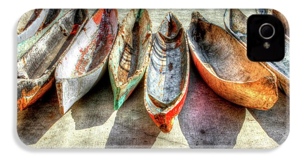 Canoes IPhone 4 Case by Debra and Dave Vanderlaan