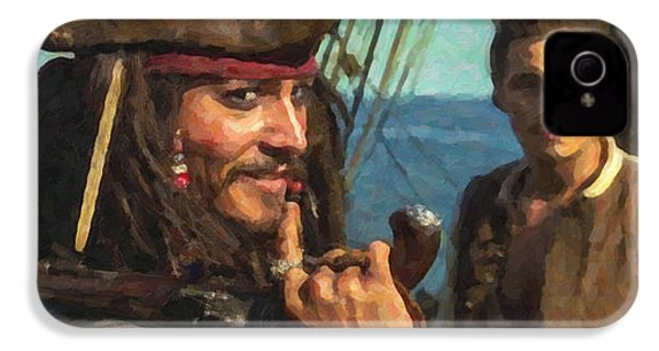 Cap. Jack Sparrow IPhone 4 / 4s Case by Himanshu  Dubey