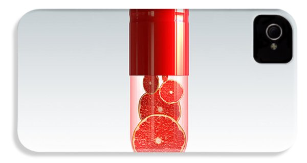 Capsule With Citrus Fruit IPhone 4 Case by Johan Swanepoel