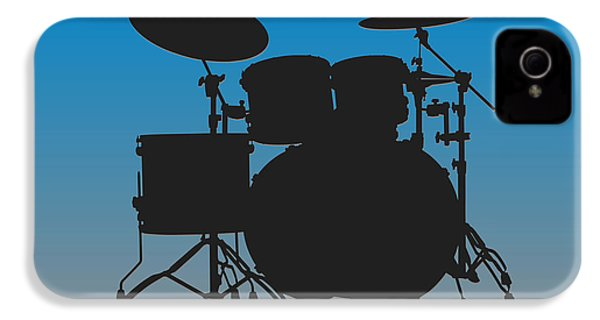 Carolina Panthers Drum Set IPhone 4 Case by Joe Hamilton
