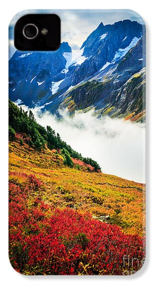 Cascade Pass Peaks IPhone 4 Case by Inge Johnsson