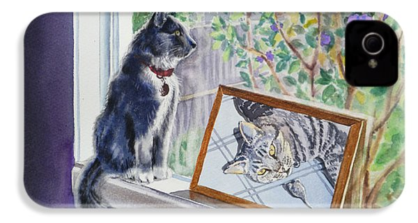 Cats And Mice Sweet Memories IPhone 4 Case by Irina Sztukowski