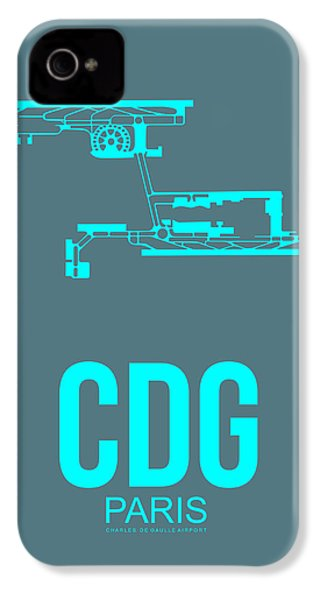 Cdg Paris Airport Poster 1 IPhone 4 Case by Naxart Studio