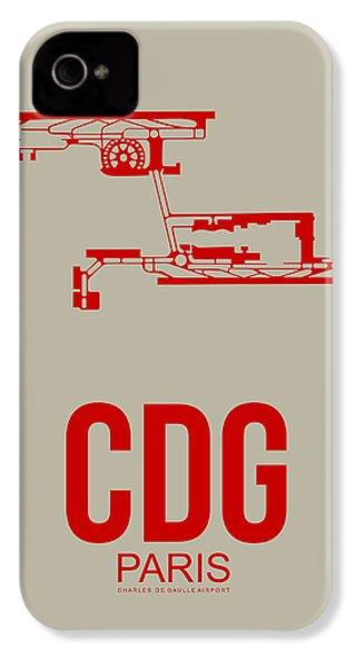 Cdg Paris Airport Poster 2 IPhone 4 Case by Naxart Studio