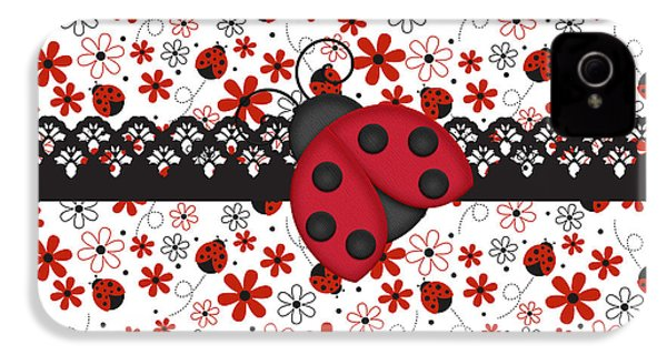 Charming Ladybugs IPhone 4 Case by Debra  Miller