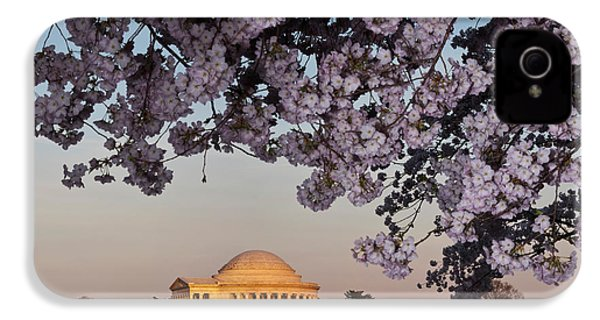 Cherry Blossom Tree With A Memorial IPhone 4 / 4s Case by Panoramic Images