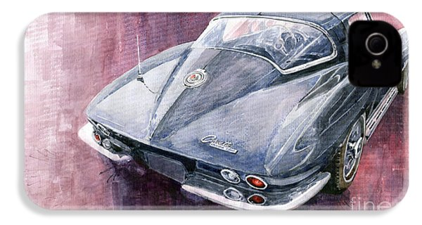 Chevrolet Corvette Sting Ray 1965 IPhone 4 Case by Yuriy  Shevchuk
