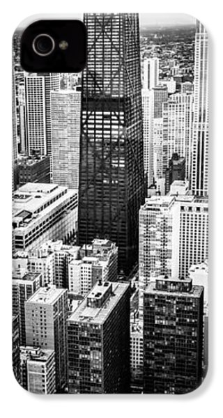 Chicago Aerial Vertical Panoramic Picture IPhone 4 / 4s Case by Paul Velgos