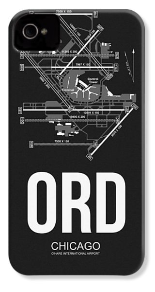 Chicago Airport Poster IPhone 4 Case by Naxart Studio