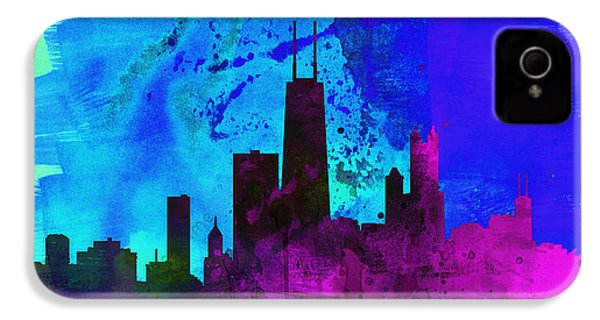 Chicago City Skyline IPhone 4 Case by Naxart Studio