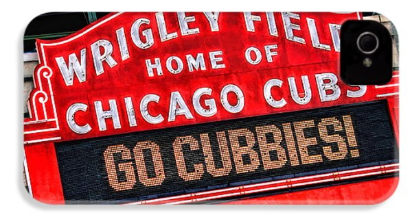 Chicago Cubs Wrigley Field IPhone 4 Case by Christopher Arndt