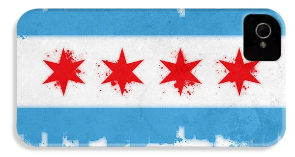 Chicago Flag IPhone 4 Case by Mike Maher