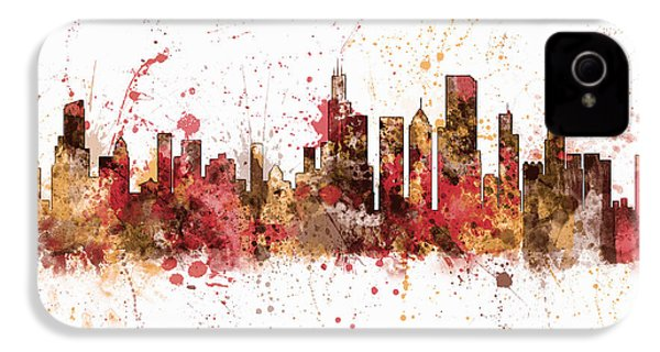 Chicago Illinois Skyline IPhone 4 Case by Michael Tompsett