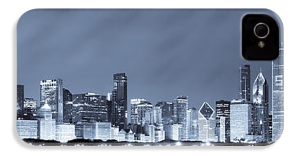 Chicago In Blue IPhone 4 Case by Sebastian Musial