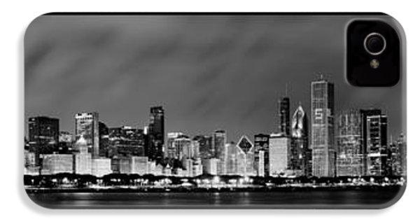 Chicago Panorama At Night IPhone 4 Case by Sebastian Musial