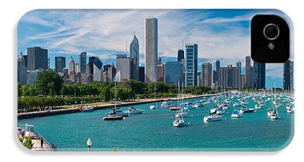 Chicago Skyline Daytime Panoramic IPhone 4 Case by Adam Romanowicz