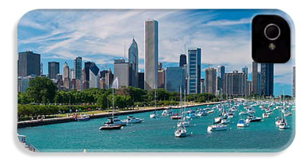 Chicago Skyline Daytime Panoramic IPhone 4 Case by Adam Romanowicz
