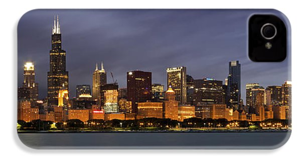Chicago Skyline At Night Color Panoramic IPhone 4 Case