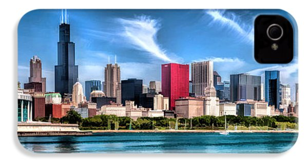 Chicago Skyline Panorama IPhone 4 Case by Christopher Arndt