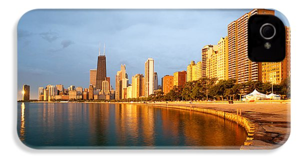 Chicago Skyline IPhone 4 Case by Sebastian Musial
