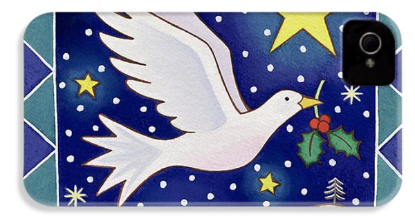 Christmas Dove  IPhone 4 Case by Cathy Baxter