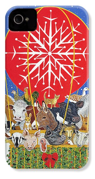 Christmas Journey Oil On Canvas IPhone 4 / 4s Case by Pat Scott