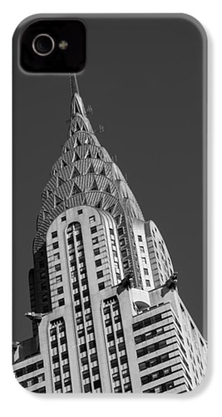 Chrysler Building Bw IPhone 4 Case by Susan Candelario