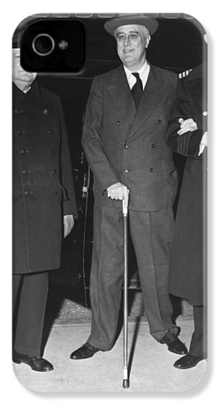 Churchill And Roosevelt IPhone 4 Case by Underwood Archives