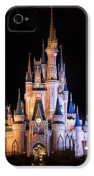 Cinderella's Castle In Magic Kingdom IPhone 4 / 4s Case by Adam Romanowicz