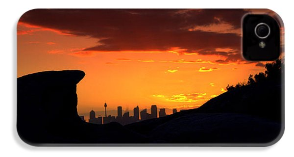 IPhone 4 Case featuring the photograph City In A Palm Of Rock by Miroslava Jurcik