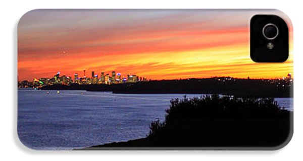 IPhone 4 Case featuring the photograph City Lights In The Sunset by Miroslava Jurcik
