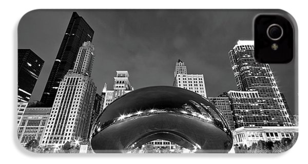Cloud Gate And Skyline IPhone 4 Case by Adam Romanowicz