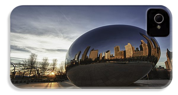 Cloud Gate At Sunrise IPhone 4 / 4s Case by Sebastian Musial