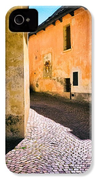 IPhone 4 Case featuring the photograph Cobbled Street by Silvia Ganora