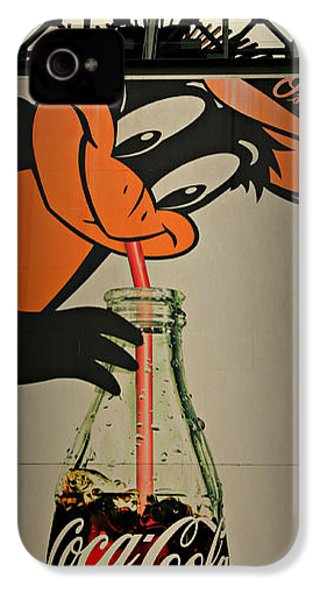 Coca Cola Orioles Sign IPhone 4 Case by Stephen Stookey