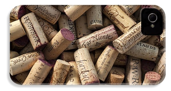 Collection Of Fine Wine Corks IPhone 4 Case by Adam Romanowicz