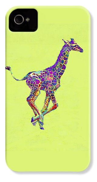 Colorful Baby Giraffe IPhone 4 Case by Jane Schnetlage