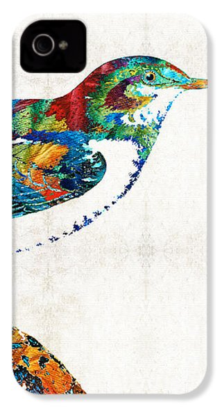 Colorful Bird Art - Sweet Song - By Sharon Cummings IPhone 4 Case by Sharon Cummings