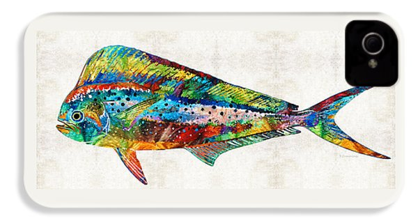 Colorful Dolphin Fish By Sharon Cummings IPhone 4 Case by Sharon Cummings