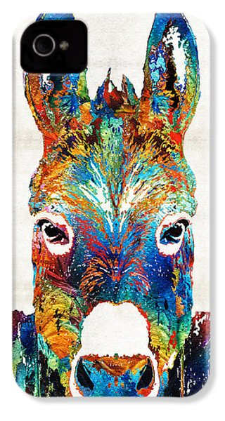 Colorful Donkey Art - Mr. Personality - By Sharon Cummings IPhone 4 Case