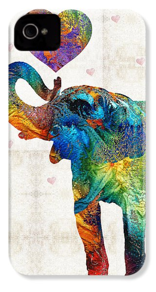 Colorful Elephant Art - Elovephant - By Sharon Cummings IPhone 4 Case