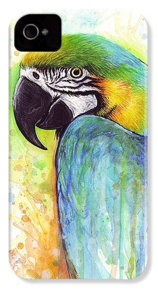 Macaw Painting IPhone 4 Case by Olga Shvartsur