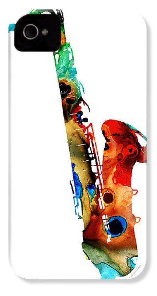 Colorful Saxophone By Sharon Cummings IPhone 4 / 4s Case by Sharon Cummings
