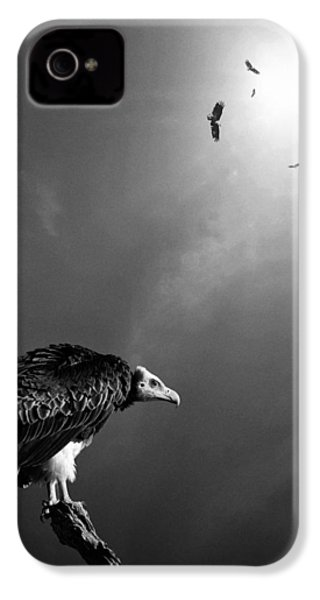 Conceptual - Vultures Awaiting IPhone 4 Case by Johan Swanepoel