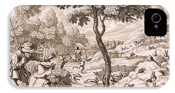 Cony Catching, Engraved By Wenceslaus IPhone 4 Case